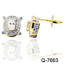 Nueva joyería de plata de los pendientes de la manera del diseño 925 (Q-7663. JPG)