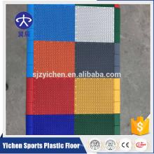 Usage extérieur et simple traitement de surface de couleur interlock extérieur court de tennis