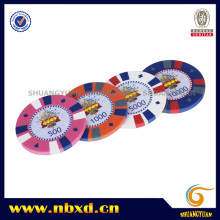 15g 3-Color Clay Poker Chip with Sticker