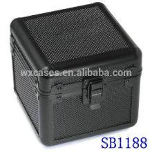 caja de reloj solo de aluminio de lujo con una almohada dentro del fabricante de China