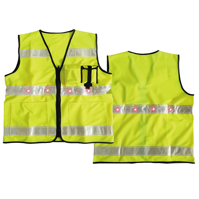 Traffic Warning Vest with Light
