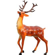 Life size fiberglass resin deer elk reindeer statue for sale