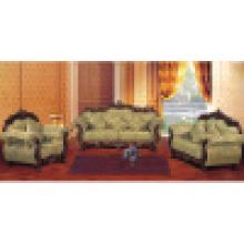 Sofá de tecido / sofá de madeira com mesa lateral (929G)