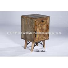Mesa de noche con mesita de noche de madera maciza