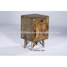 Solid Wood Storage Nightstand Bedside Table