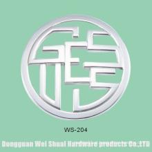 Etiqueta amigável ambiental da bolsa, logotipo do metal, acessórios da liga do zinco