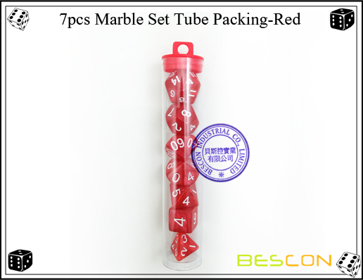 7pcs Marble Set Tube Packing-Red2