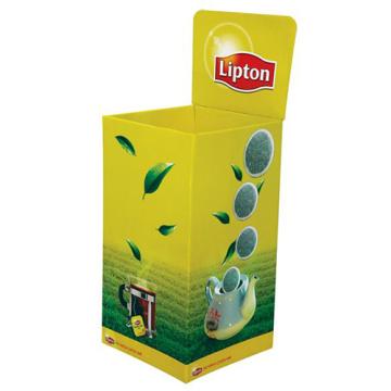Karton Einzelhandel Dump Bin Displays für Lipton