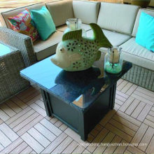 Co-Extrusion 300*300 mm WPC Interlocking Waterproof Deck Tiles