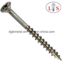 Ss304 Countersunk Head Cross Recess Screw with Thread Cutting