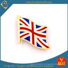 Emblema do Pin da bandeira de Reino Unido como a lembrança no preço baixo