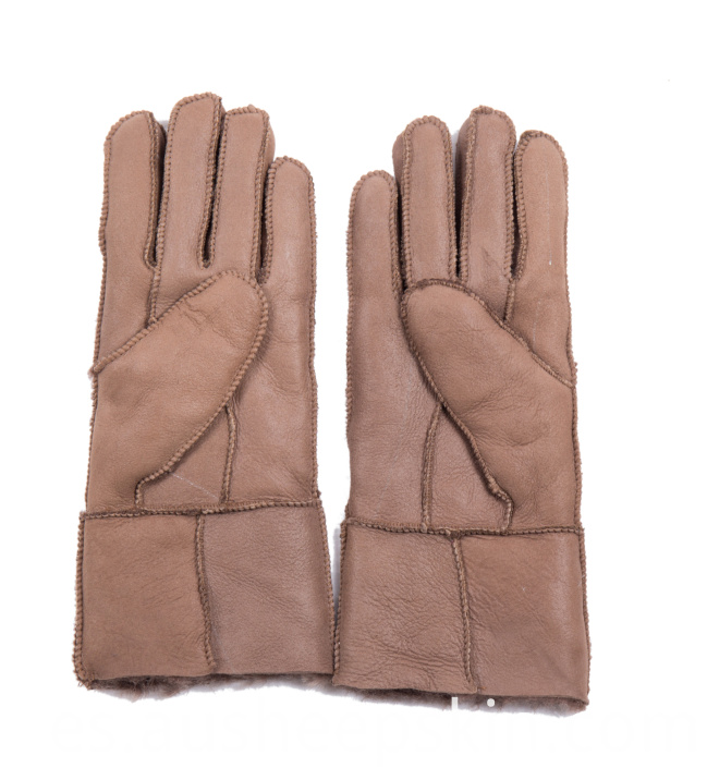 Warm Sheepskin Out Sewing Gloves