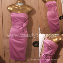 New Design Vintage 50s Repro Wiggle Pencil Pink Satiny Pinup Marilyn Monroe Bow Dress GP006