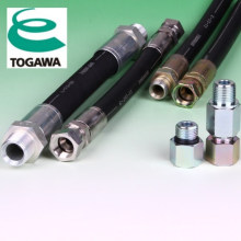 Hydraulic hose made of rubber. Manufactured by Togawa Rubber Co., Ltd. Made in Japan (hydraulic hose pipe price list)