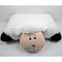 Almohada blanca de felpa suave rellenada animal