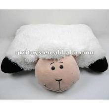 мягкие плюшевые stufffed белое животное подушка