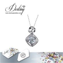 Destino joias cristal de Swarovski colar com pingente de coração
