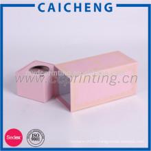 Custom pink paper gift packaging box