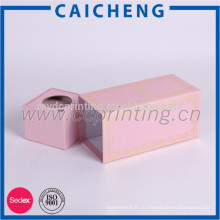Пользовательские розовый коробка бумажного подарка упаковывая