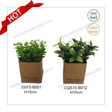H15cm Bouquet de plantes artificielles en fleurs de plantes végétales