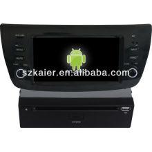 Android System lecteur dvd de voiture pour Fiat Doblo avec GPS, Bluetooth, 3G, iPod, jeux, double zone, contrôle du volant