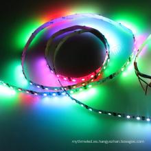 12 y 24 voltios Artnet controlados Colorido 60 leds / m barato dmx rgb luz de tira llevada