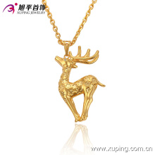 32521 Fashion Lively Animal Deer-Shaped 24k Gold-Plated Imitation Jewelry Pendant Chain