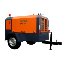 portable 5m3 7bar 90cfm diesel screw compressor