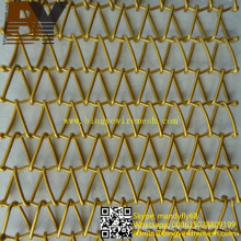 Decorative Spiral Weave Mesh Architectural Conveyor Belt
