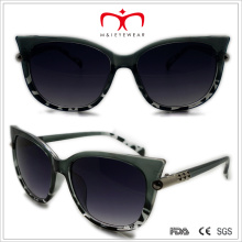Plastic Cat′s Eye Sunglasses with Metal Decoration (WSP508319)