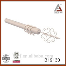 B19310 white modern metal painted curtain pipe, double curtain poles