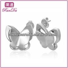 Atacado vários Lovely borboleta urso coruja forma de aço inoxidável para os garanhões do garanhão brincos moda jóias acessórios