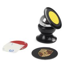 360 graus rotação Universal Mount Mobile Phone titular do carro, titular do carro magnético para celular