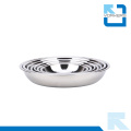Hot Sell Thickening Deep Stainless Steel Dinner Soup Plate & Dish Plate