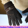 Printed Micro Suede with Composited Flannel for Gloves Fabric