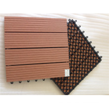 WPC DIY que entrelaza la teja plástica de la base de las tejas
