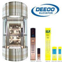 1.00-2.00m / S 500-1000kg Elevador de turismo de cristal
