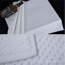 100% Cotton 32s White Color Bath Mat