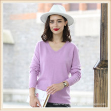 Женская мода чистый Цвет 100% кашемир свитер