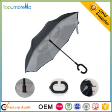 malaysia hot sell upside down double layer inverted reverse umbrella