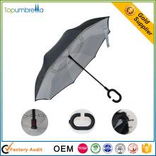 непромокаемые новые изобретения в Китае обратного складной зонтик в Китае