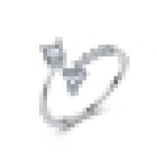 Mädchen 925 Sterling Silber Dreieck Ring süße Schmuck Geschenk