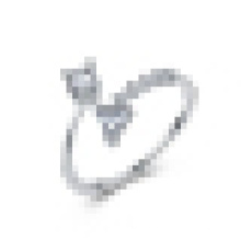 Menina 925 sterling silver triângulo anel presente da jóia doce