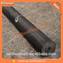 ISO9001 Fábrica de PVC Negro pantalla de la red de alambre malla de insectos / Resina de epoxi recubierto de malla de alambre de aluminio