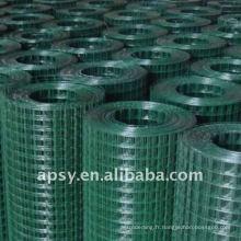 Panneaux de clôture soudés en treillis métallique enduits de PVC