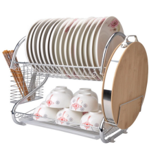 Dish drainer with chopstick rest