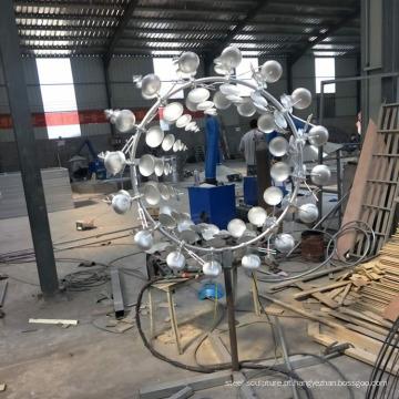 Escultura cinética de aço inoxidável de decoração de jardim de venda quente