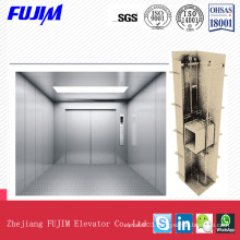 1000kg, 2000kg, 3000kg Capacity Machine Roomless Freight Elevator with Vvvf