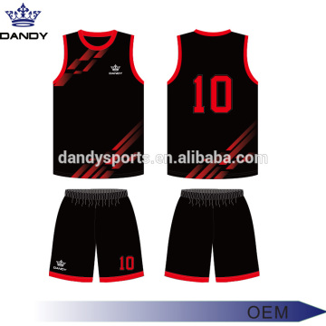 Jersi Bola Keranjang V Neck Custom Sublimated