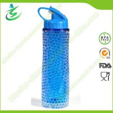 Gel de refrigeración de hielo de 18oz con aislamiento de botella de agua con etiqueta